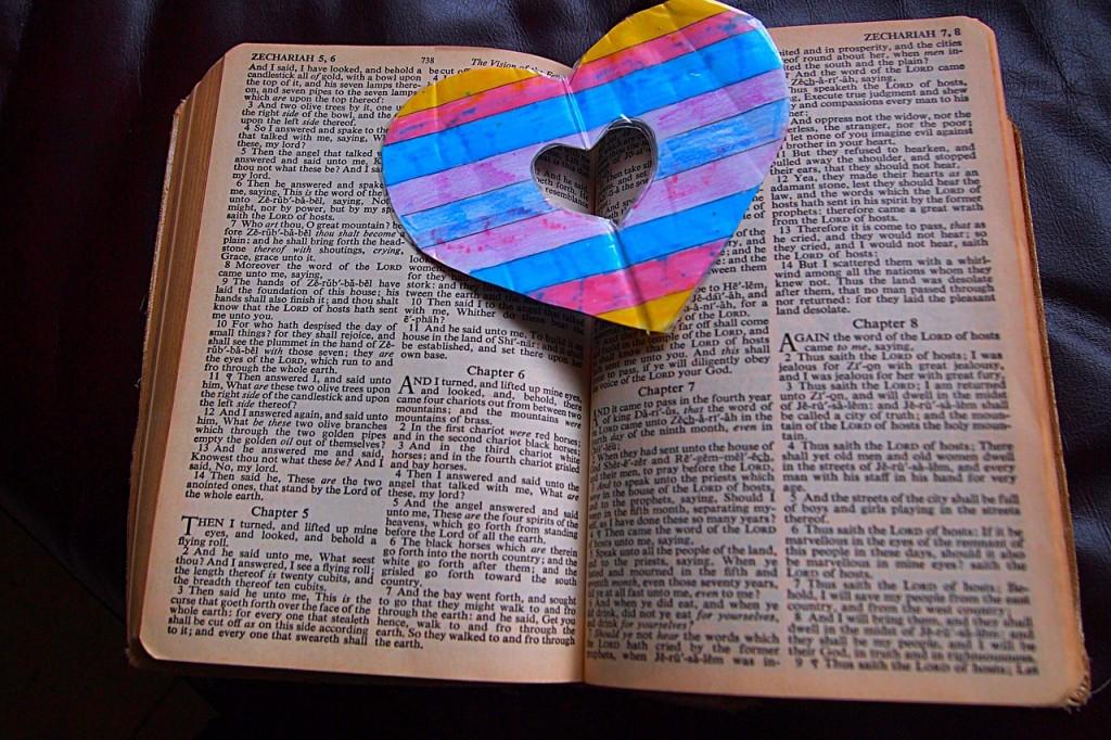 a heart on an open book