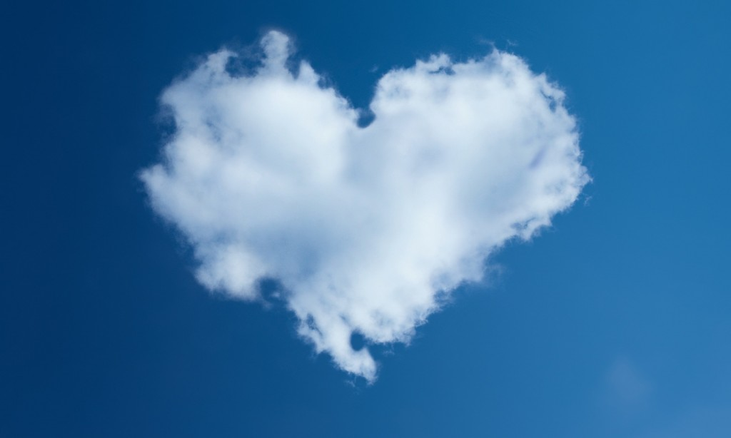 a heart in the clouds