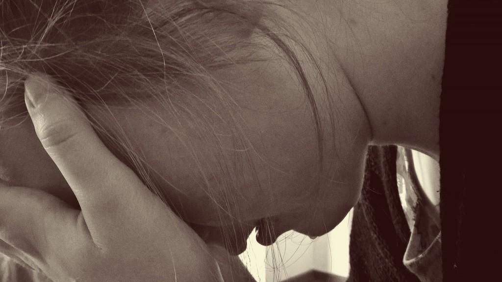 a girl who's upset over failure