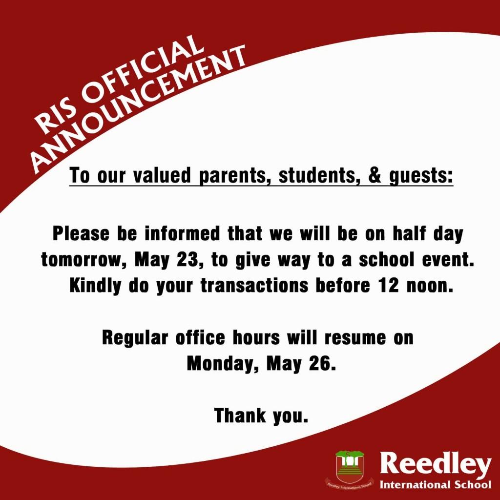 half-day-school-event